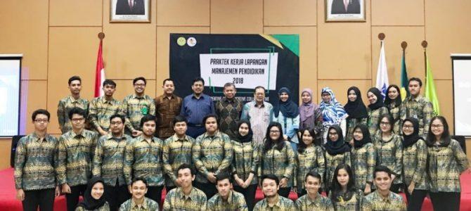Pembekalan Praktek Kerja Lapangan Manajemen Pendidikan tahun 2018