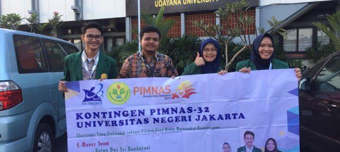 Mahasiswa Prodi Pendidikan Masyarakat FIP UNJ mewakili UNJ pada ajang Pekan Ilmiah Mahasiswa Nasional di Universitas Udayana Bali
