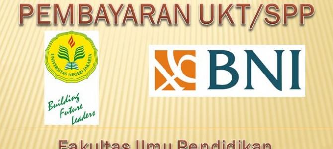 Pembayaran UKT/SPP Semester Ganjil (105) Tahun Akademik 2016/2017