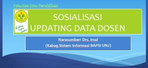 Sosialisasi Updating data Dosen FIP UNJ