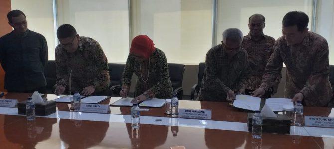 Penandatanganan Kesepahaman FIP dan FE UNJ dengan PT. Mirae Asset dan Bursa Efek Indonesia