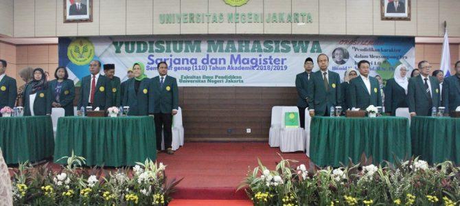 Yudisium Program Sarjana dan Magister Fakultas Ilmu Pendidikan Universitas Negeri Jakarta Semester Genap (110) Tahun Akademik 2018/2019