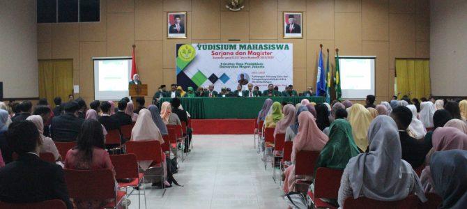 Yudisium Program Sarjana dan Magister Fakultas Ilmu Pendidikan Universitas Negeri Jakarta Semester Gasal (111) Tahun Akademik 2019/2020