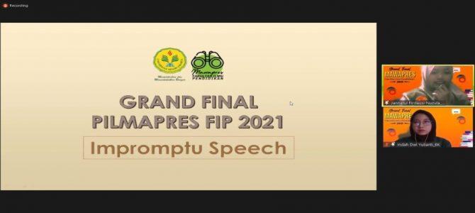 PEMILIHAN MAHASISWA BERPRESTASI 2021  FAKULTAS ILMU PENDIDIKAN UNIVERSITAS NEGERI JAKARTA