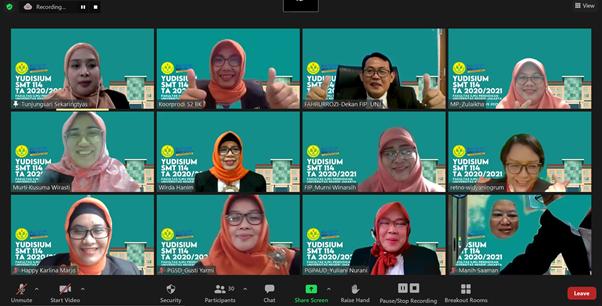 Yudisium Virtual Fakultas Ilmu Pendidikan Universitas Negeri Jakarta Semester 114 Tahun Akademik 2020/2021